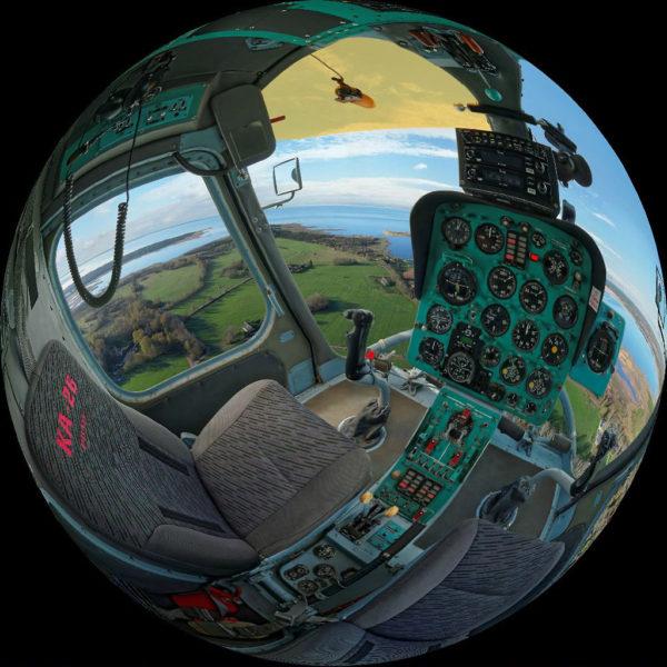 Кабина вертолёта КА-26